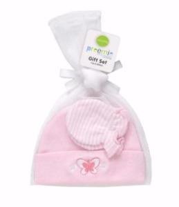 Playette - Pink Baby Preemie Cap / Mitten Gift Set