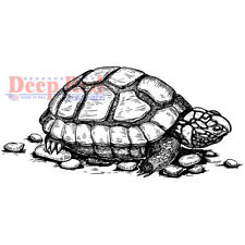 Tortoise, Cling Unmounted Stamp 3.25'' x 1.5'' DEEP RED STAMPS 3X405600