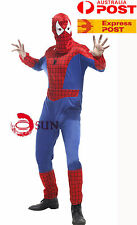 Mens Spiderman Spider Costume Adult Fancy Dress Halloween Cosplay fits 170-185cm