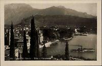 Riva Lago di Garda Gardasee Italien s/w AK ~1920/30 Panorama Blick auf den Hafen