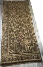 Grande Tapisserie Médiévale, verticale, Le Départ à la chasse, fauconnier, héron