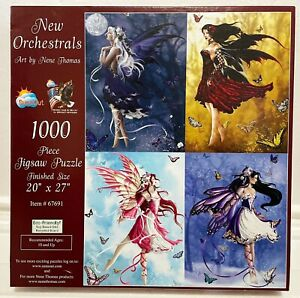 """Sunsout NENE THOMAS """"FAIRIES"""" THE NEW ORCHESTRALS Jigsaw Puzzle 1000pc, COMPLETE"""