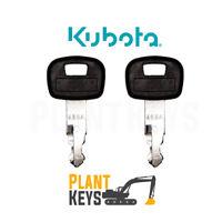 Kubota 459A (Set of 2) Excavator Keys Ignition Parts Mini Equipment Loader Track