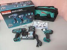 Makita CT226 12V CXT 2-Tool Cordless Impact Driver & Drill/Driver Combo Kit MINT