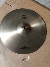 """zildjian used cymbal, 14"""" crash cymbal, nothing cracked or damaged, just used"""
