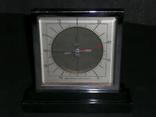 Art-Deco Wetter-Station verchromt mit Luft-Barometer und Thermometer