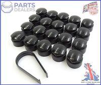 Genuine peugeot citroen C1 C2 C3 DS3 C4 DS4 Wheel nut bolt Covers 17 mm x4 Noir