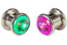 "Pair LED Light up Ear Gauge Plug ( Size: 8mm - 5/16""- 0g )"