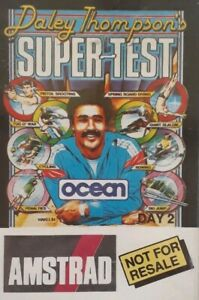 Daley Thompson's Super Test Day 2 Amstrad CPC Computer Video Game Cassette.Ocean