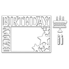 Birthday Metal Cutting Dies Stencil DIY Scrapbooking Paper Card Crafts Embossing