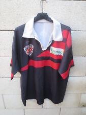Maillot rugby JSC CUGNAUX porté n°5 vintage shirt années 90 XL
