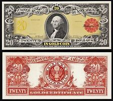 2 Proof Prints or Intaglio Impressions by BEP -Front & Back of  $20 1905 Gold
