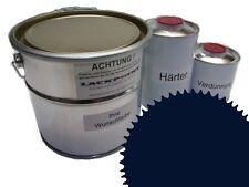 3 Litres Set 2K Revêtement de sol Bleu RAL 5011 Glanz Peinture de sol Atelier