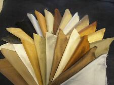 FABRIC REMNANTS 100% silk 25 pieces  NEUTRAL COLOURS
