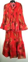 Jerry T Red Floral Skirt Suit 1X 18 20 Plus Size Red Skirt Set SR 7203 New NWT