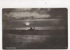 Zonsondergang Groeten Uit Scheveningen Netherlands Vintage RP Postcard 941a