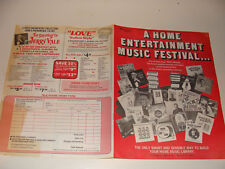 1970's Tele House Music Ad Flyer Motown Polkas Pop Country Big Band LPs 8 Tracks