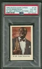 "1962 Louis Armstrong Card PSA 4 Dutch Gum Cards ""E"" Set Straight Letters #128"