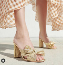 Loeffler Randall Gold Bridal Penny Knot Sandal Sz 8.5