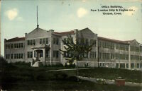 Groton CT Office Bldg New London Ship & Engine Co c1910 Postcard