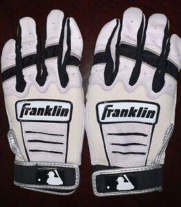 Franklin CFX chrome Baseball Batting Gloves Adult Small Size.black/ beige Color