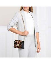 MICHAEL KORS Whitney Cross Body Bag Chain Belt Bum Bag Leopard Butterscotch