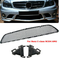 UK Front Bumper Center OEM Mesh Grille For Mercedes C-Class W204 AMG 2008-2011
