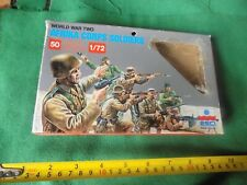 vintage Box Esci 1/72 ww2 Toy Soldiers Afrika Corps