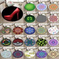 New Round Soft Yoga Mat Mandala Shamrocks Rugs Floor Bathmat Rug Non-slip Carpet