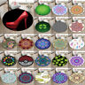 New Round Soft Yoga Mat Mandala Shamrocks Rugs Floor Bathmat Rug Non-slip Carpet