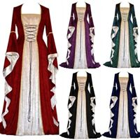 Medieval Dress Halloween Costumes Women Cosplay Palace Noble Princess Long Robes