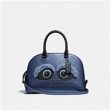 Coach F22779 Bear Mini Sierra Satchel Metallic Midnight Bag