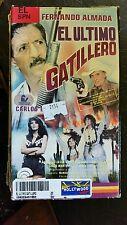 EL ULTIMO GATILLERO. FERNANDO ALMADA, CARLOS WDST. RARE SPANISH VHS VIDEO.