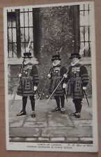 Postcard Beefeaters at the Tower Of London Posted 1939