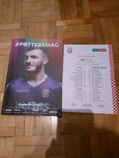 Stoke City v Queens Park Rangers 2018/19 - programme & team sheet
