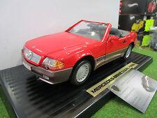 MERCEDES 500 SL CABRIOLET 1989 rouge au 1/18 YATMING 92048 voiture miniature