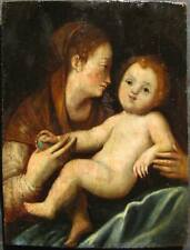Madonna & Child 18th C. or Older Old Master Oil Painting w/ Provenance NO RESERV