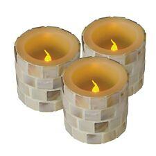 "Set di 3 Candela LED "" Hannah "" tremolante SENZA FIAMMA cera reale cera candela"