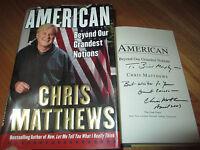 News CHRIS MATTHEWS signed AMERICAN Beyond Our Grandest Notions Book HARD BALL