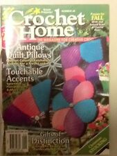 Crochet Home #48 Aug-Sept '95 Afghans Doilies Coasters Antique Gifts HOW TO!