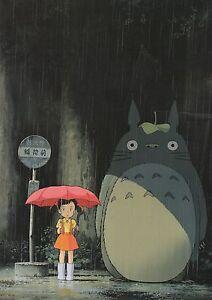 My Neighbor TOTORO Miyazaki Japanese Large Anime Poster Ghibli Wall Decoration