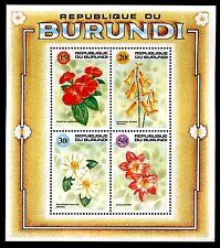 Burundi 666f MNH Flowers S/S. x9885