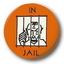 IN JAIL - 1 inch / 25mm Button Badge - Monopoly Board Game Novelty Fun