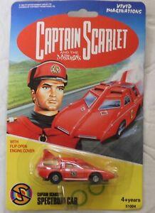VINTAGE CAPTAIN SCARLET SPECTRUM CAR DIECAST By VIVID IMAGINATIONS MINT CARDED