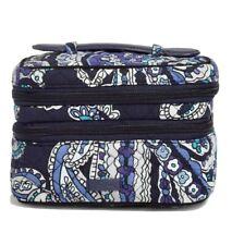 Vera Bradley Jewelry Train Case DEEP NIGHT PAISLEY Travel Cosmetic Bag NWT $60