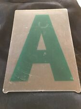"""Used Set Of 283 Green Gemini 8"""" Plastic Marquee Reader Board Letters & Numbers"""