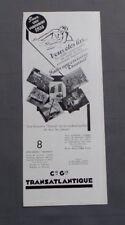 PUBLICITE ANCIENNE ADVERT CLIPPING 191017 CROISIERE TRANSAT AVEC TRANSATLANTIQUE