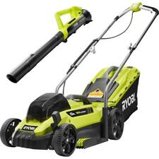 Ryobi 13 in. One+ 18-Volt Lithium-Ion Cordless Battery Walk Behind Push Lawn Ah