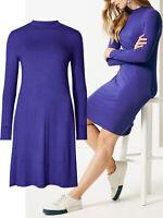 Marks Spencer dress plus size 14 16 20 22 24 purple ultra-violet jersey swing