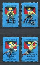s6175) ANTIGUA & BARBUDA 1989 MNH** WC Football'90 - CM Calcio 4v WINNERS